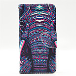 Elephant Pattern PU Leahter Full Body Case with Card Slot for Microsoft Lumia 640