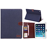 Denim Style PU Leather Case Card Slots & Wallet with Holder for iPad Air 2 (Assorted Colors)