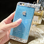 color gelatina Glitter Pattern caso posteriore duro per iPhone6 ​​(colori assortiti)