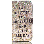 Glitter Breakfast Pattern PU Leather Painted Phone Case For iPhone 6