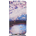 Lanterns Pattern PU Material Card Sided Bracket Full Body Case for iPhone 6