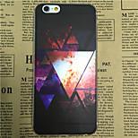 Triangular Space Pattern Transparent TPU Soft Back Case for iPhone 6