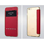 Jisoncase Transparent  Bottom  Smart Touch Phone Leather Case for Iphone 6/6S Plus(Assorted Colors)