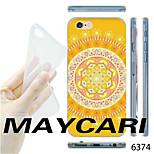 motif de fleur maycari®yellow TPU étui transparent arrière souple pour iPhone 6