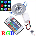 MORSEN® 3W 200-250LM LED RGB Ceiling Light with Remote Controller Wall Lamp Lighting (85-265V)