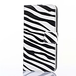 padrão de zebra couro pu caso de corpo inteiro com estande e slot para cartão de Lite do arco-íris WIKO