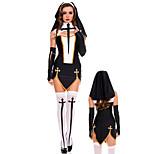 Black Nun Sister Costumes Adlut Halloween Costumes For Women(dress+headwear+gloves)