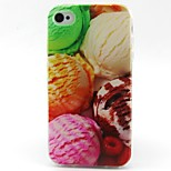 Ice Cream Pattern TPU Material Soft Phone Case for iPhone 4/4S
