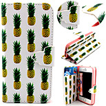 Pineapple Pattern with Card Bag Full Body Case for iPhone 5/5S