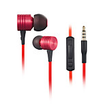 High Performance In Ear Headphones Volume Control Earphone with Mic for iPhone Samsung Tablet MP3 MP4