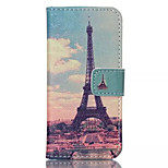 Transmission Tower Pattern PU Leather Phone Case For iPhone 5C