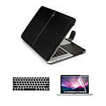 Business 3 in 1 Full Body Cases with Keyboard Flim and HD Screen Protector for Macbook Retina 13.3
