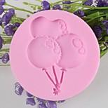 Balloon Shaped Fondant Cake Chocolate Silicone Mold, Decoration Tools Bakeware