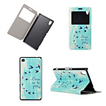 Be Free You Fly Pattern View Winodw Leather Wallet Flip Cover Case for Sony Xperia M4 Aqua/Sony Xperia C4