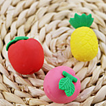 Lovely Cartoon Fruit Shaped Pineapple Peach Apple Detachable Rubber Eraser (Random Color)
