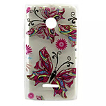 Colorful Butterfly  Pattern TPU Painted Soft Back Cover for Nokia Microsoft Lumia 435