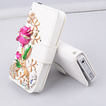 Mobile Phone Holster Stereo Rose Diamond  Hard Pattern Back Case for iPhone6