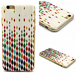 Painted Diamond Pattern TPU Material Phone Case For iPhone 6