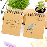 Colored Drawing Kraft Paper Creative Notebook(Random Color)