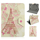 Eiffel Tower Cartoon Pattern High Quality PU Leather with Stand Case for 7 Inch Universal Tablet