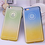 New Dual Color Gradient Flash TPU Soft Shell for iPhone 6(Assorted Colors)