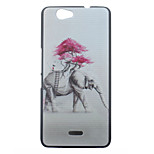 Elephant Pattern PC Material Phone Case  for Wiko GETAWAY