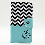 Wave Anchor Pattern PU Leahter Full Body Case with Card Slot for Microsoft Lumia 640