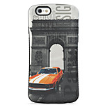Car  Pattern PC + TPU Drop Resistance Phone Shell For iPhone 6 Plus