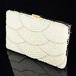 Handbag Satin/Crystal/ Rhinestone/Metal Evening Handbags With Crystal/ Rhinestone/Imitation Pearl/Metal