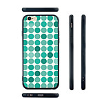Cyan Dots Pattern Transparent Silicone Rubber Edge Hard Back Case for iPhone 6/6S