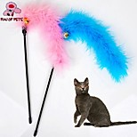 FUN OF PETS® Lovely Turkey Feather Shaped Playing Stick for Pet Cats(Random Colour)