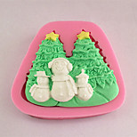 Christmas Snowman& Christmas Tree Fondant Mold Cake Decoration Mold