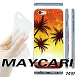 alberi maycari®coconut nel modello tramonto TPU fondello trasparente molle per il iphone 6