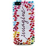 Fashion Design COCO FUN® Colorful Imagine Pattern Soft TPU IMD Back Case Cover for iPhone 5/5S