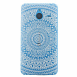 Snow White Mandala Flower Pattern TPU Case for Microsoft Lumia 640 XL