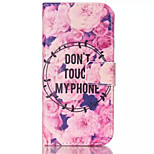 Flowers Pattern PU Leather Painted Phone Case For iPhone 6