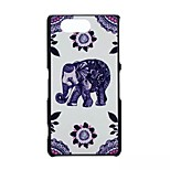 Elephant Pattern PC Material Phone Case for Sony Z3 Mini