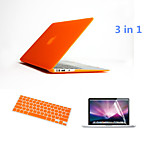 3 in 1 Full Body Hard Cases with Keyboard Flim and HD Screen Protector for Macbook Retina 15.4