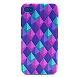 Color Diamond Pattern PC Material Phone Case for iPhone 4/4S