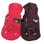 Red/Blue/Brown New Style Pet Clothes Cotton Coats/Hoodies For Dogs