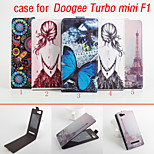 cuoio di vibrazione custodia protettiva magnetica per doogee turbo mini f1 (colori assortiti)