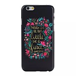 Letter Pattern Black Matte PC Material Phone Case for iphone 6