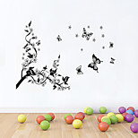 Wall Stickers Wall Decals Style Plum Blossom Butterflies Fluttering PVC Wall Stickers