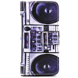 Speaker Pattern PU Leather Painted Phone Case For iPhone 5/5S