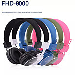 Wireless Bluetooth Headset Handsfree Headphones Earphone with MIC Support TF Card Free Shipping UPS DHL HKPAM CPAM