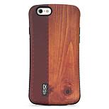 grão de madeira padrão pc + TPU resistência à queda shell telefone para iphone 6