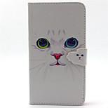 vit katt mönster PU läder ringer fallet för Galaxy Note 3