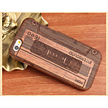 Retro Recording Tape Back Cover Solid Wood Protective Shell for iPhone 6