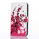 Peach Blossom Pattern PU Leather Full Body Case with Stand and Card Slot for ZTE Blade S6