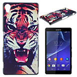 Tiger Pattern Material TPU Soft Phone Case for Sony Xperia Z3